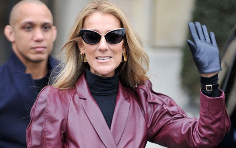 Celine Dion luce el corazón del océano de Titanic en medio de la París Fashion Week