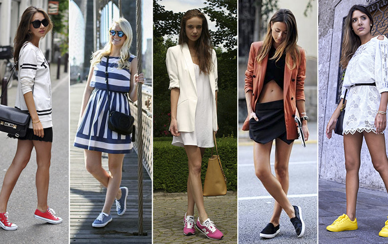 Zapatillas Y Vestidos Sí Son Una Buena Combinación Ar13cl