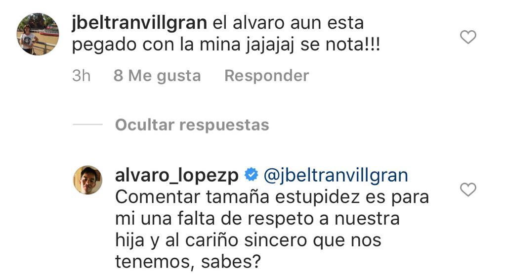 Álvaro López recibe desubicado mensaje por foto con Millaray Viera