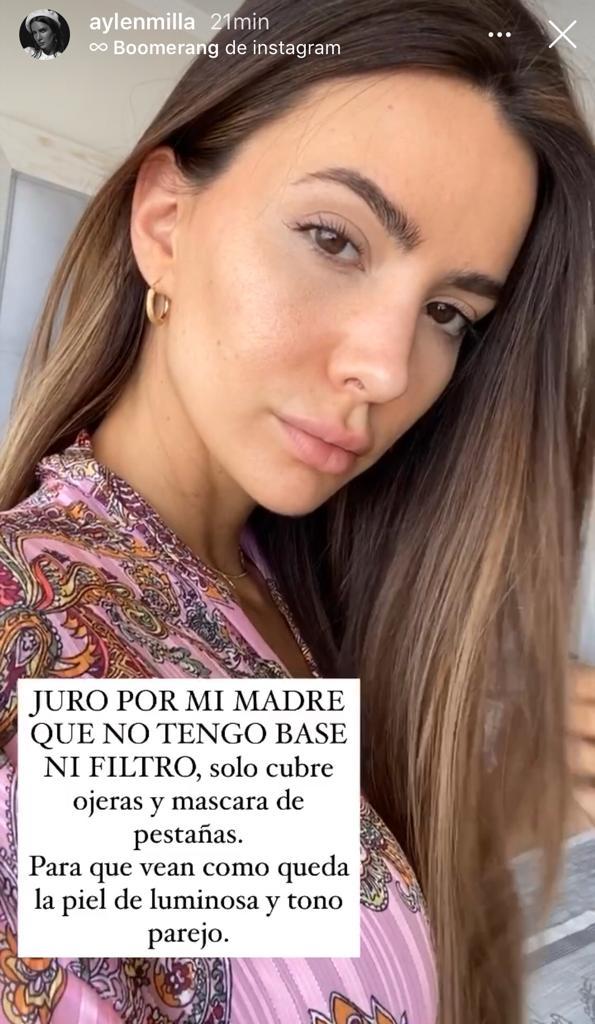 Aylén Milla sorprende al enseñar su rostro sin filtro alguno