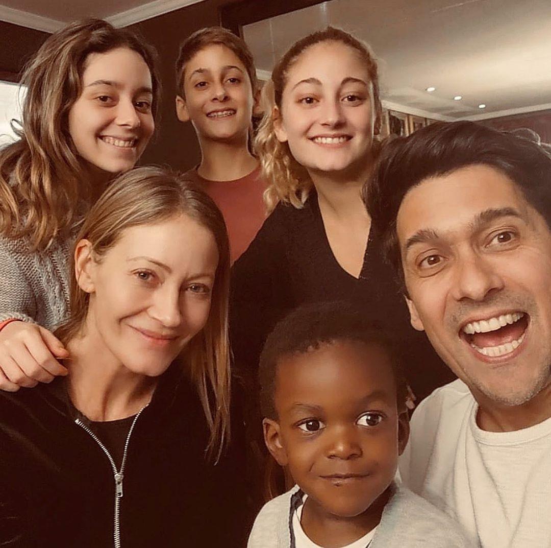 Rafael Araneda y su familia