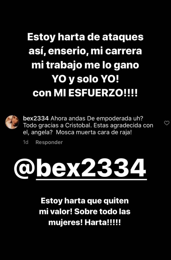"""""""Estoy harta"""": Ángela Duarte revela ataques por su ex relación"""