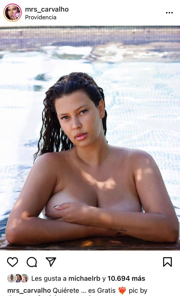 Michelle Carvalho festeja sus 28 años con foto en piscina