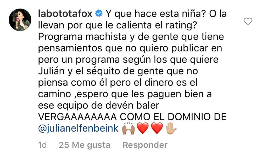 Botota Fox se lanza en contra de Francisca Undurraga