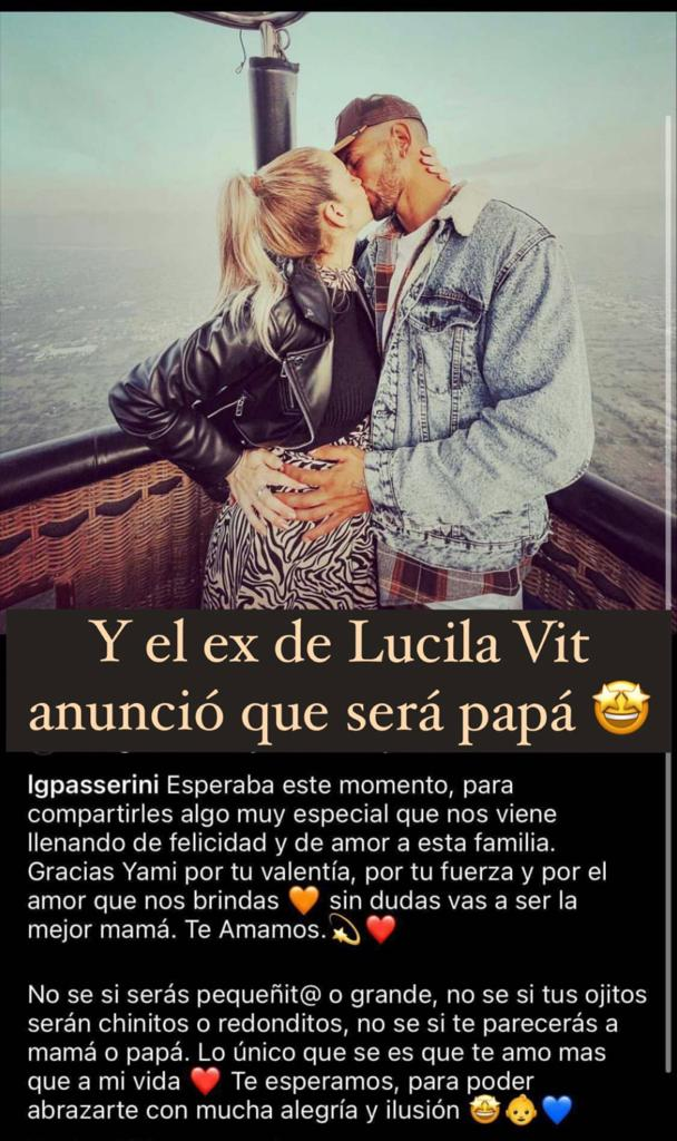 Confirmado: Lucila Vit espera a su primer hijo