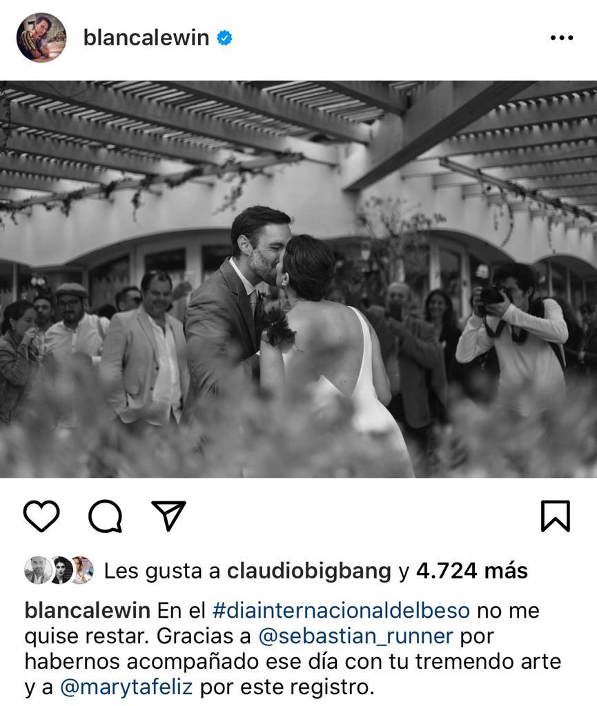 Blanca Lewin muestra su matrimonio con Daniel Matamala