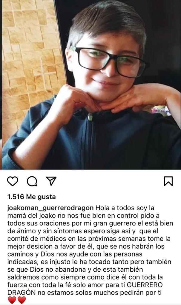 """Piden orar por Joaquín, ex figura de """"Contra viento y marea"""""""