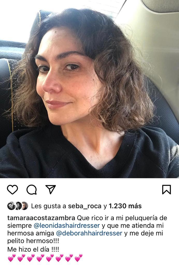 Tamara Acosta deslumbra con polera en honor de músico chileno