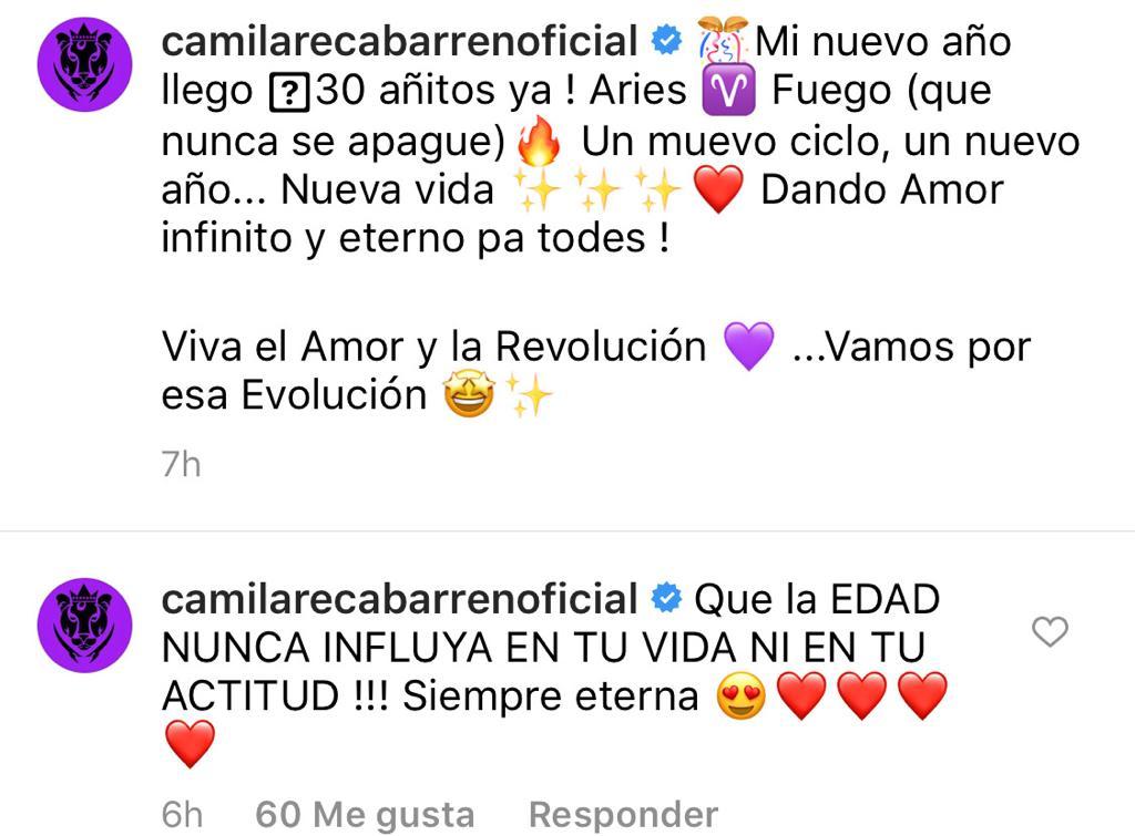 """""""Nueva vida"""": La celebración de Camila Recabarren por sus 30 años"""