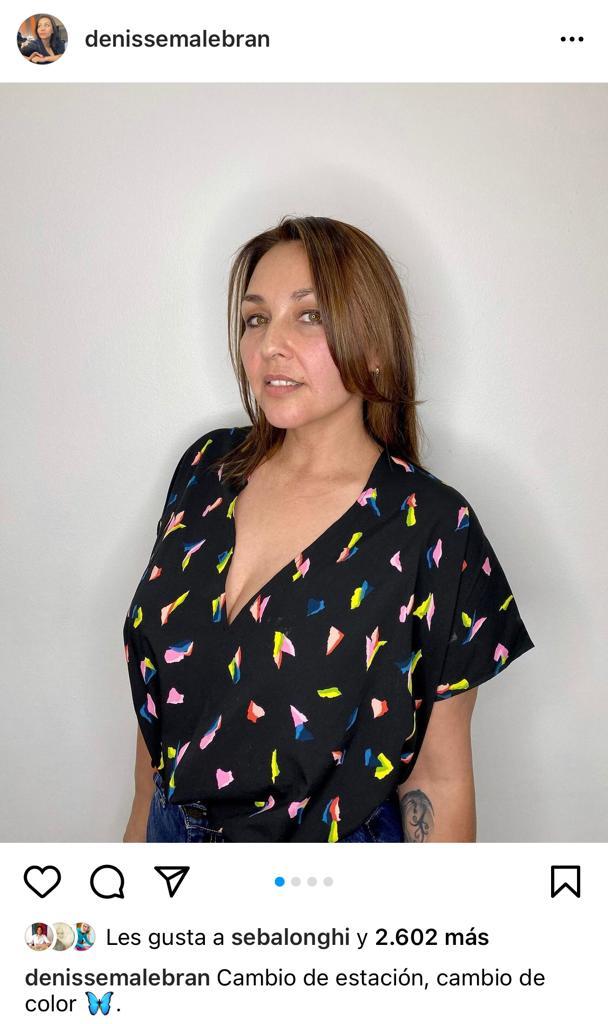 """""""Cambio de color"""": Denisse Malebrán encanta con nuevo look"""