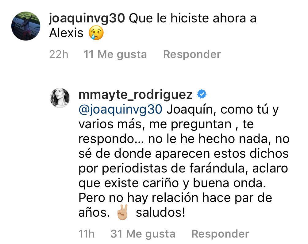 Mayte Rodríguez aclara su relación actual con Alexis Sánchez