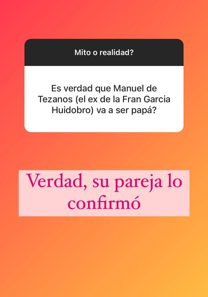 Manuel de Tezanos confirma embarazo de su novia