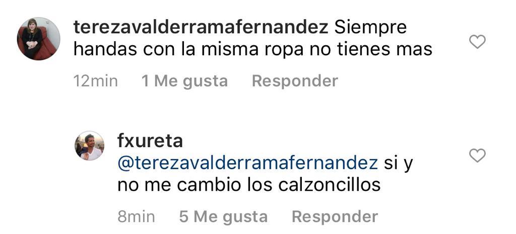 Pololo de Raquel Argandoña responde con humor a crítica de seguidora