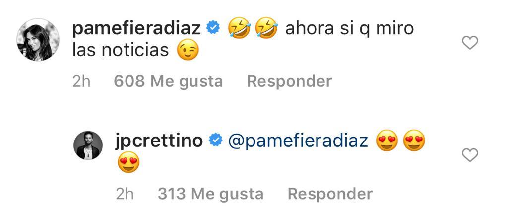 Pamela Díaz sorprende con coqueto mensaje para Jean Philippe Cretton