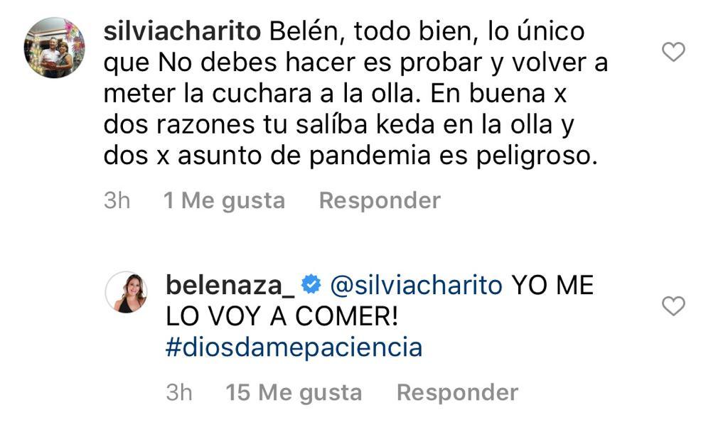 Belén Mora responde a críticas por video cocinando