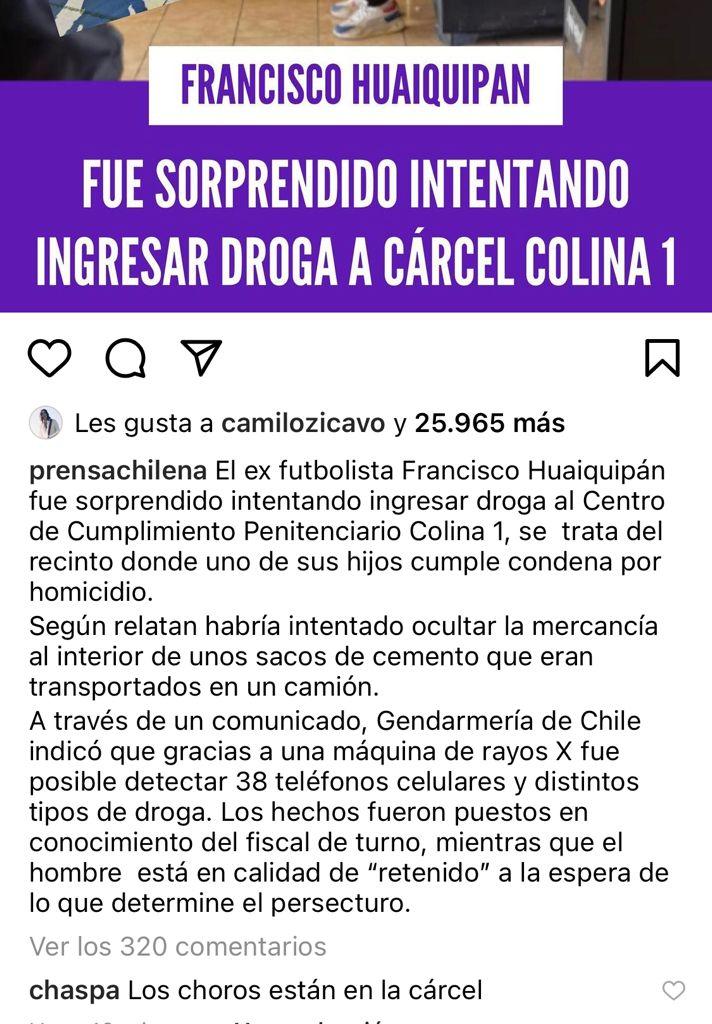 Chispa Lacassie reacciona a detención de Francisco Huaquipán