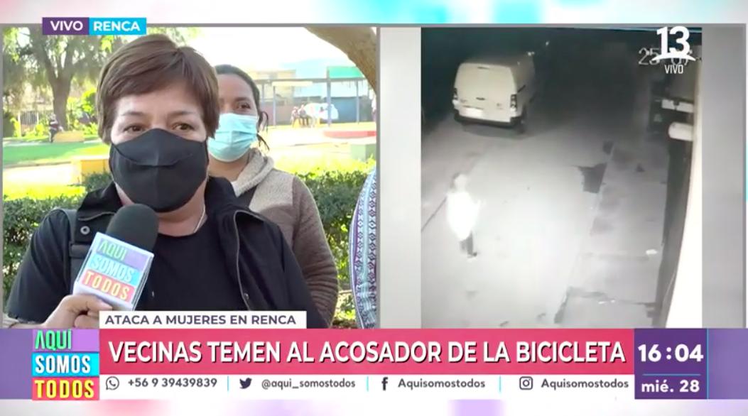"""""""Acosador de la bicicleta"""" atemoriza a vecinas de Renca"""