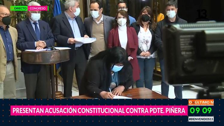 Presentan acusación constitucional en contra de Presidente Piñera