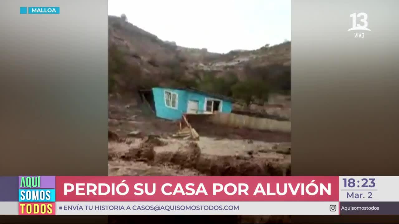 Vendedor ambulante perdió su casa por los aluviones