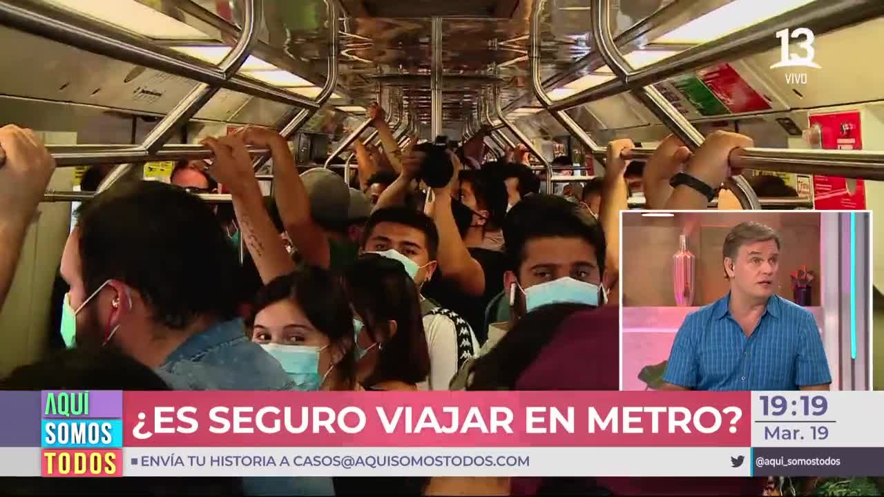 ¿Qué tan riesgoso es viajar en metro en hora punta?