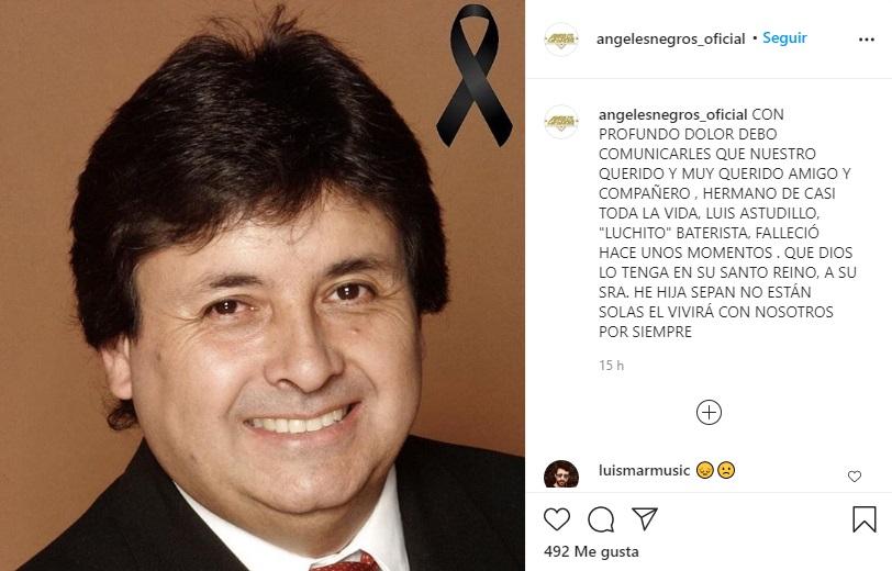 Murió histórico integrante de Los Ángeles Negros