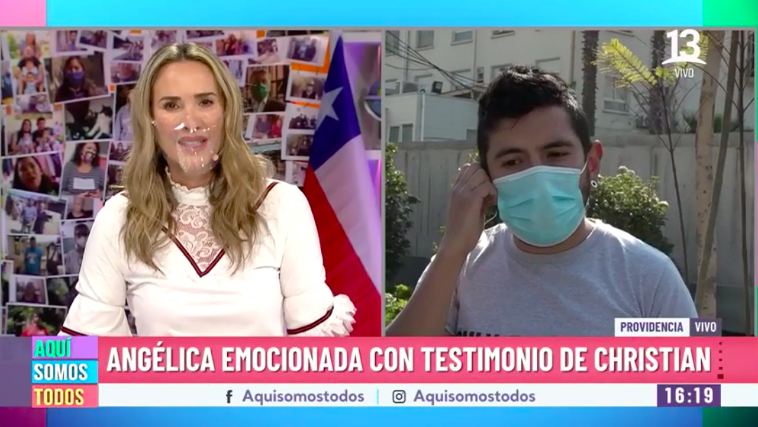Angélica Castro se emociona por joven que lucha para costear tratamiento de su esposa