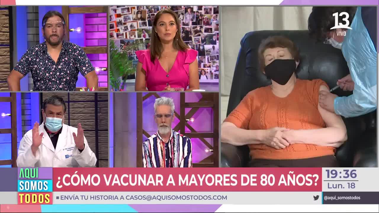Dr. Molina se refirió a la vacuna Pfizer en adultos mayores