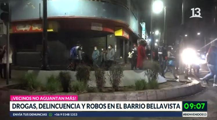 Vecinos del barrio Bellavista denuncian descontrol por delincuencia y ruidos