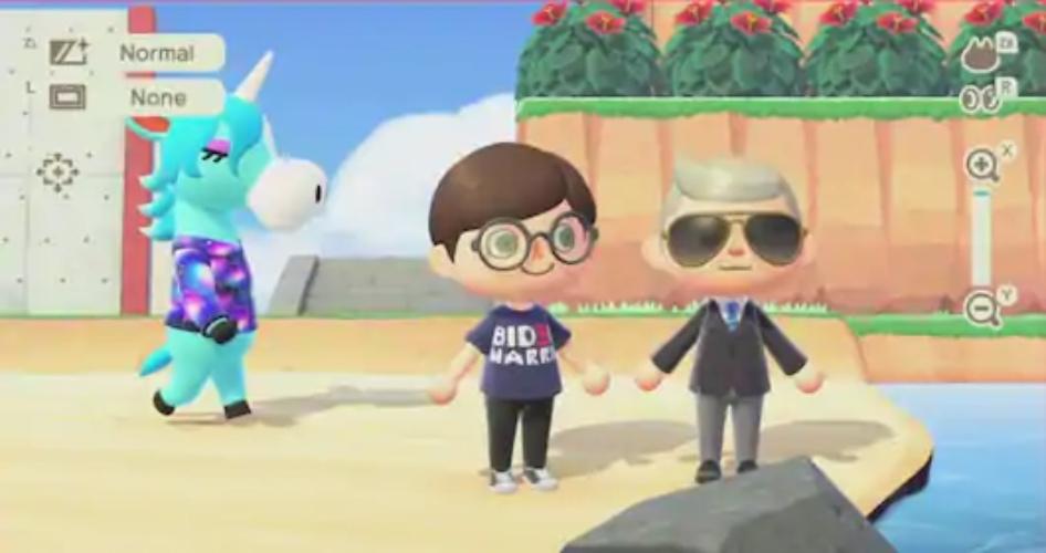 Joe Biden en Animal Crossing