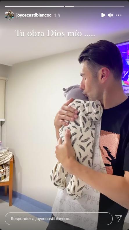 Joyce Castiblanco presenta a su bebé recién nacido