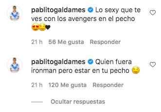 Pablo Galdames deja coqueto comentario en foto de Vesta Lugg