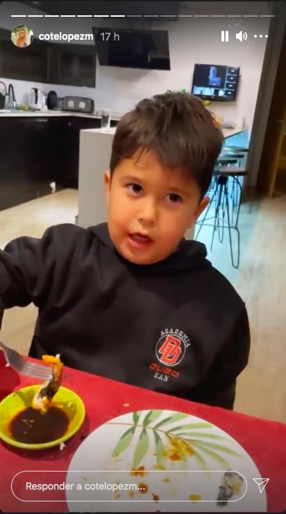 Coté López saca risas con divertida broma a su hijo