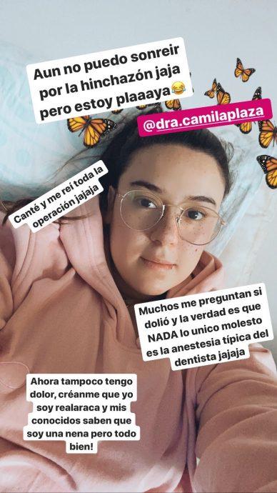 Christell Rodríguez se sacó la grasa de sus mejillas y mostró los resultados