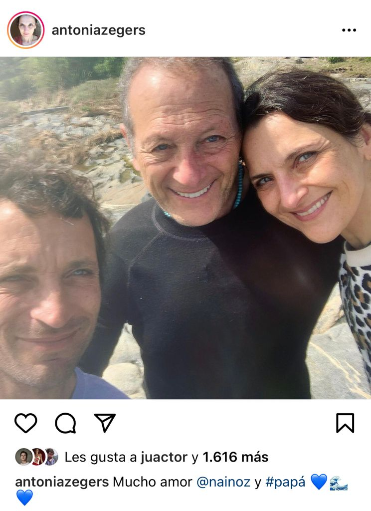"""Tres gotas de agua"": Antonia Zegers enseña a su familia clon"