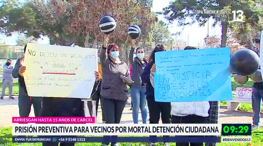 Decretan prisión preventiva para vecinos por mortal detención ciudadana