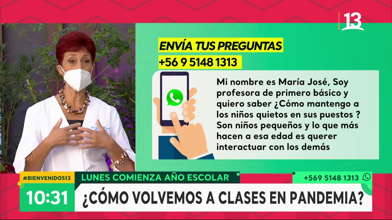 Dra. Herrera se refirió a las dificultades del regreso a clases