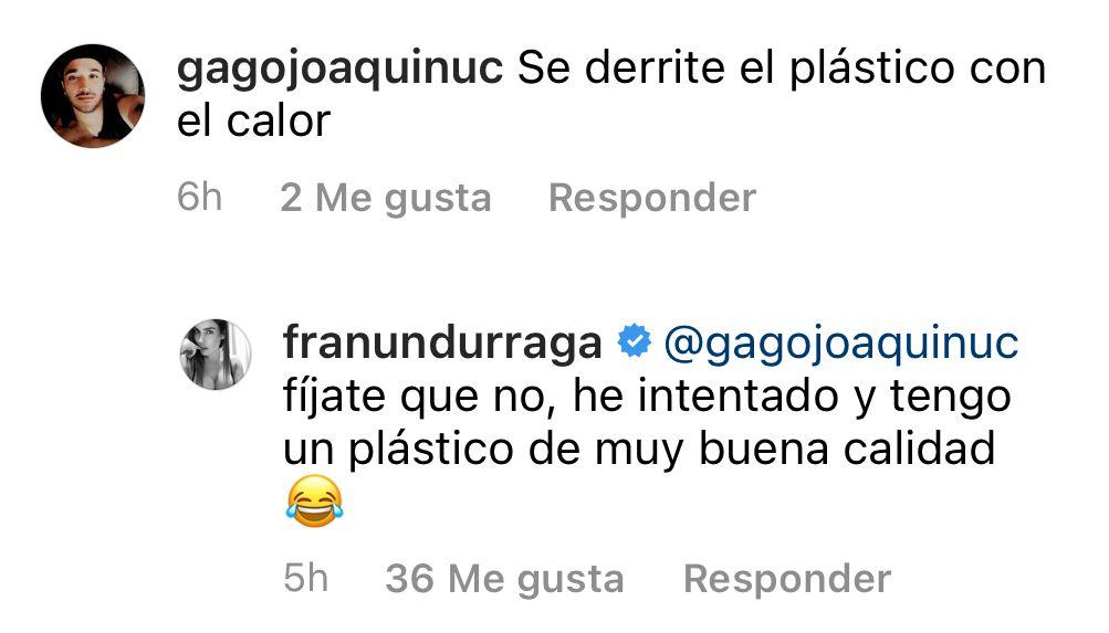 """""""Se derrite el plástico"""": Fran Undurraga enfrenta críticas por foto"""