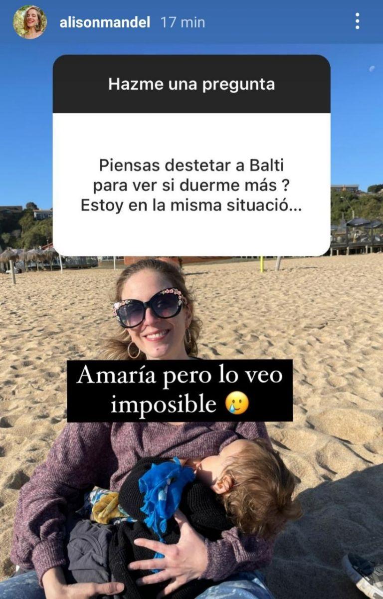 Alison Mandel y su drama para hacer dormir a su bebé