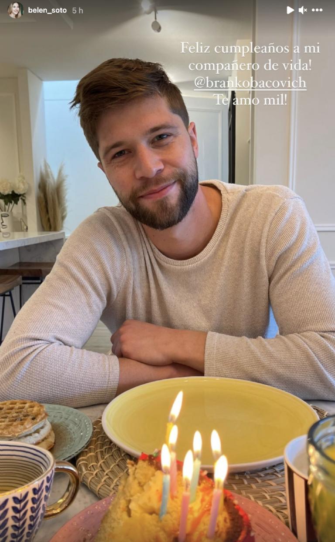 Belén Soto envía romántico saludo de cumpleaños a su pololo