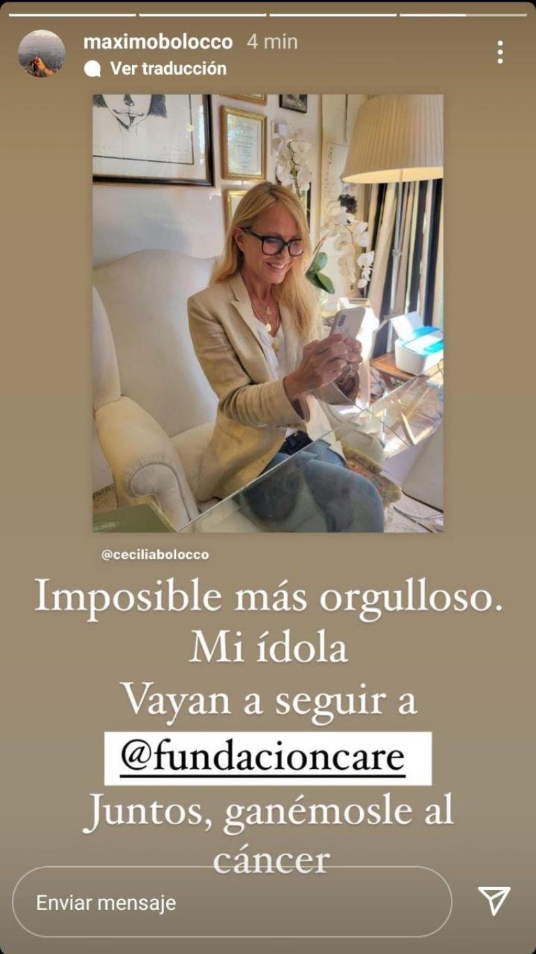 M谩ximo Menem celebra importante logro de Cecilia Bolocco