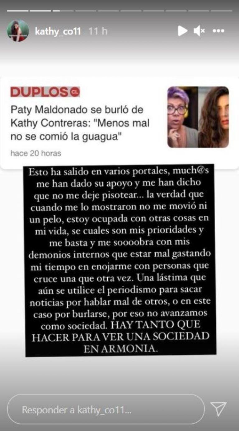 Kathy Contreras responde a burlas de Paty Maldonado