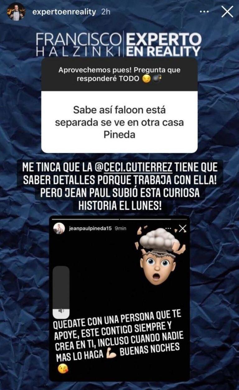 La reflexión de Jean Paul Pineda tras supuesta ruptura con Faloon