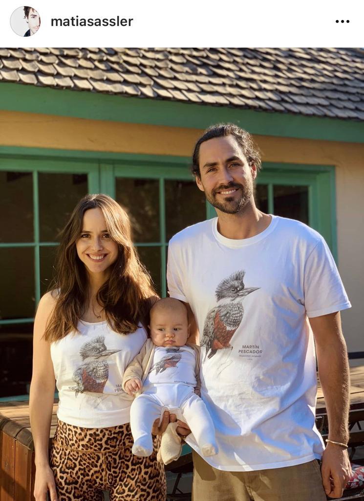 """Afortunado"": Matías Assler cautiva con foto de su familia"