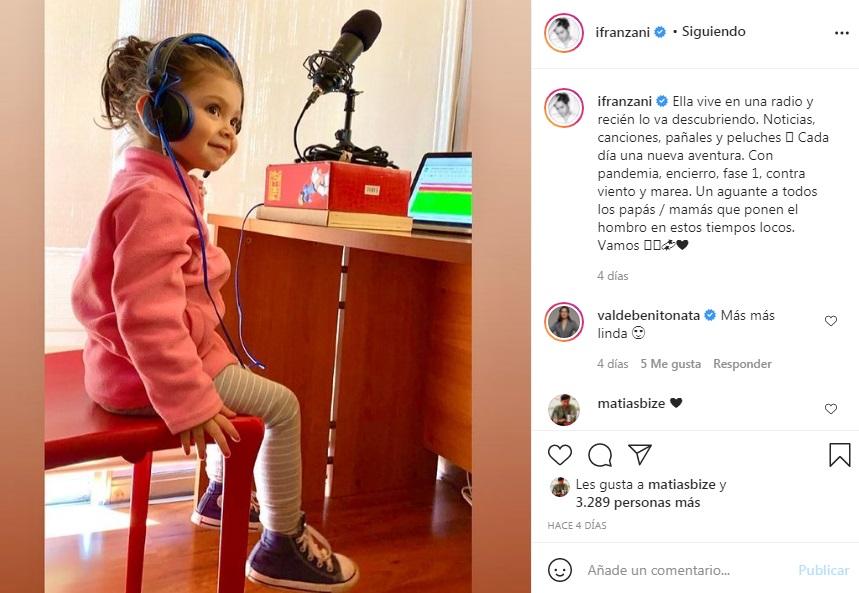 Ignacio Franzani enseña lo grande que está su hija