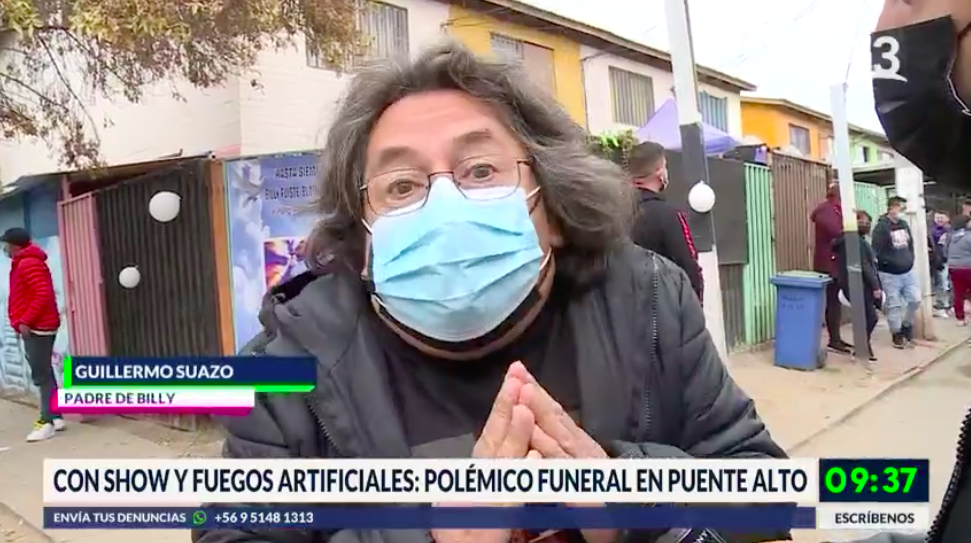 Polémico funeral en Puente Alto con show y fuegos artificiales