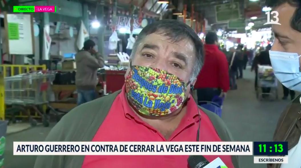 Arturo Guerrero en contra de cerrar La Vega por elecciones