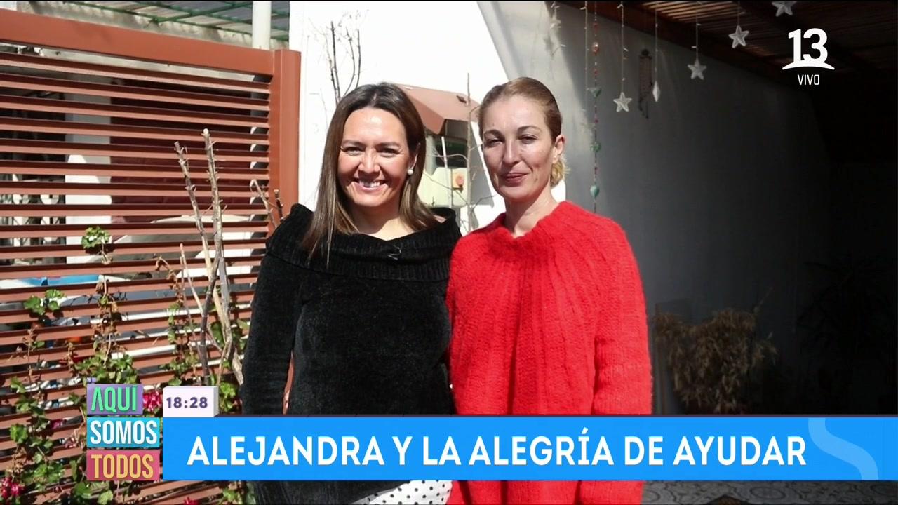 Alejandra y Patricia en Aquí Somos Todos
