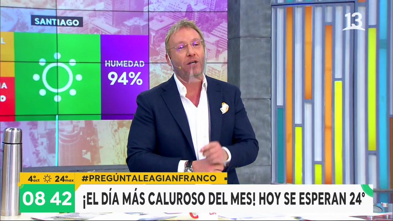 Día primaveral en Santiago: Hoy máxima llegará a los 24 grados