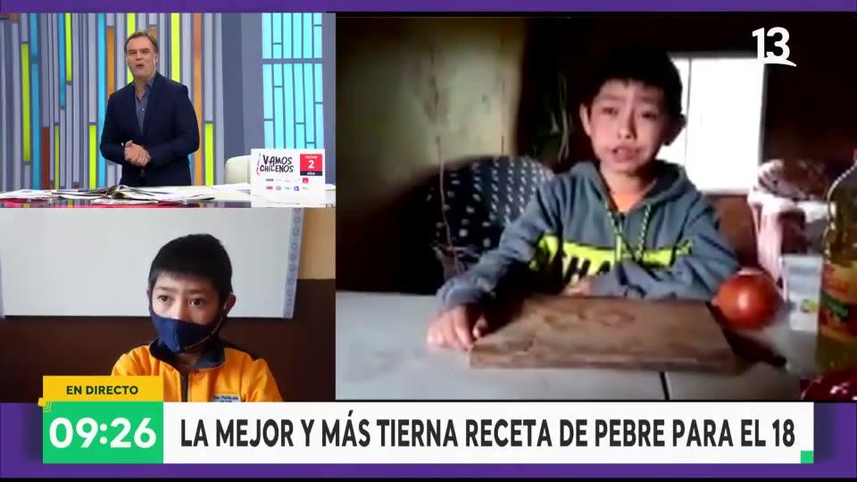 Niño que hace un pebre se convirtió en viral
