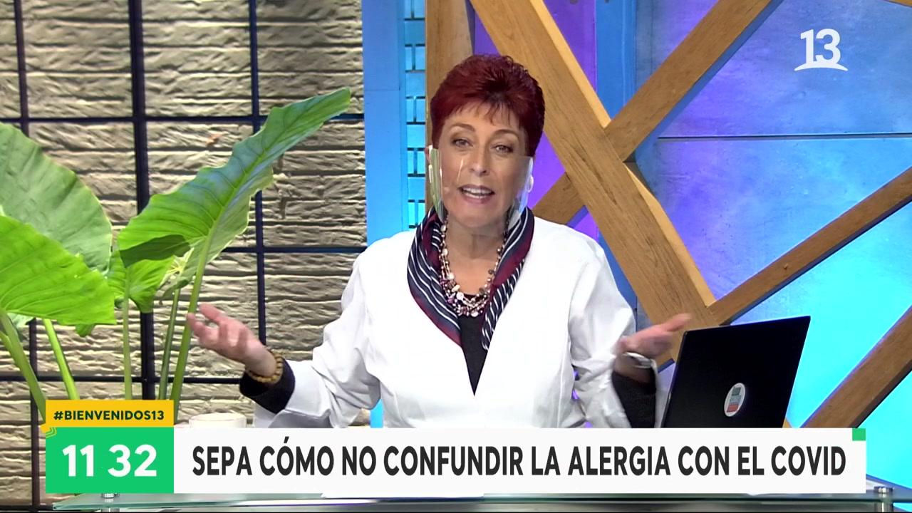 Carolina Herrera explica la diferencia entre alergia y coronavirus